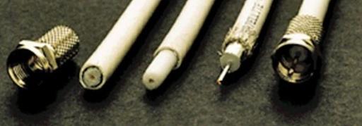 фото кабеля для зачистки и установки F конектора